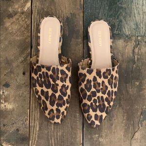 OLD NAVY leopard slides/ mules